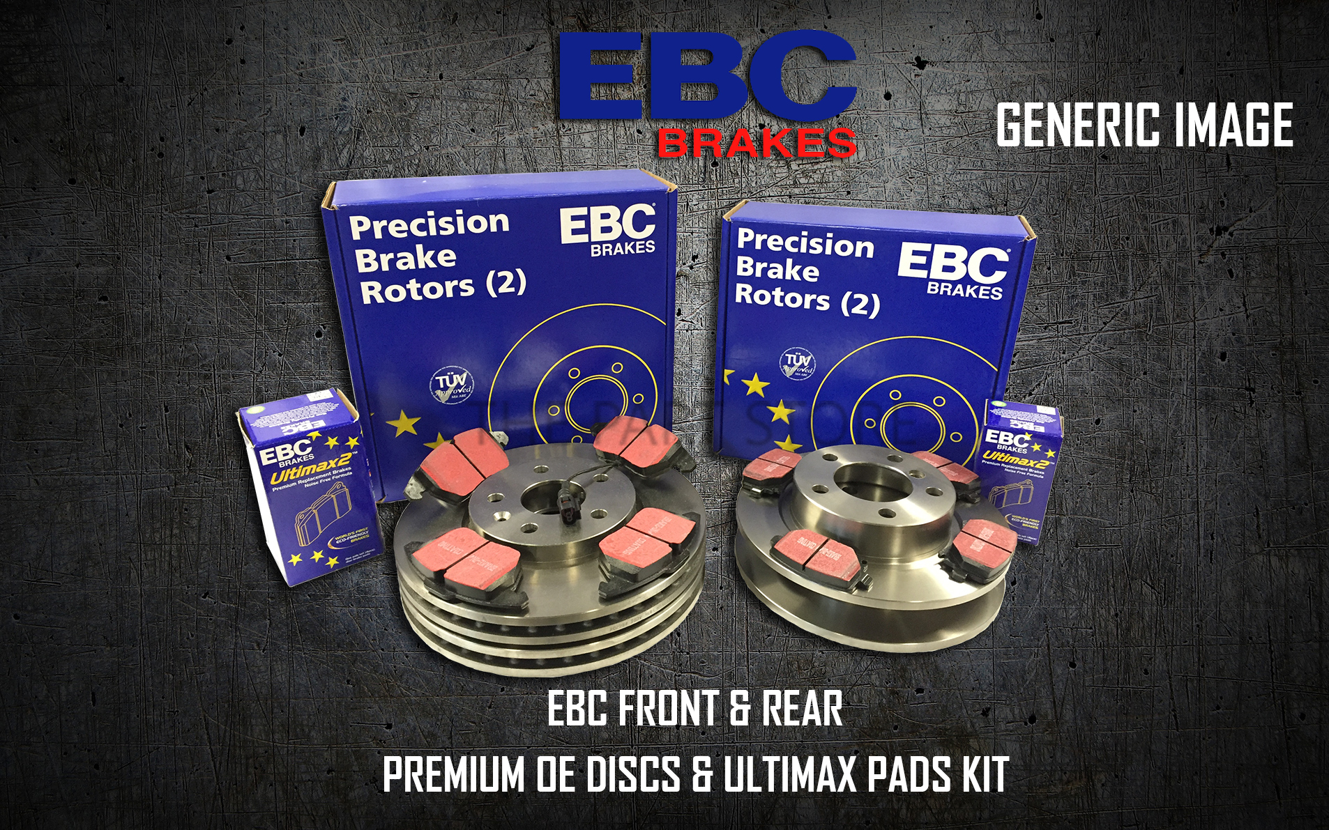 PD40K750 NEW EBC FRONT AND REAR BRAKE DISCS AND PADS KIT OE QUALITY REPLACE