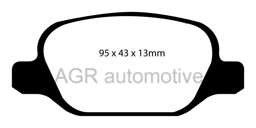 Mintex Rear Brake Pads Mdb2042 For Peugeot Bipper 1 3 Td