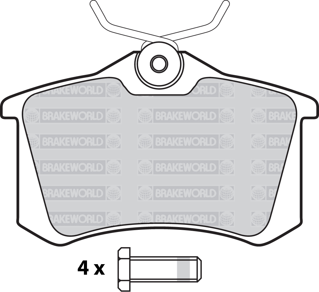 Oem Spec Front And Rear Pads For Audi A3  8p  1 4 Turbo