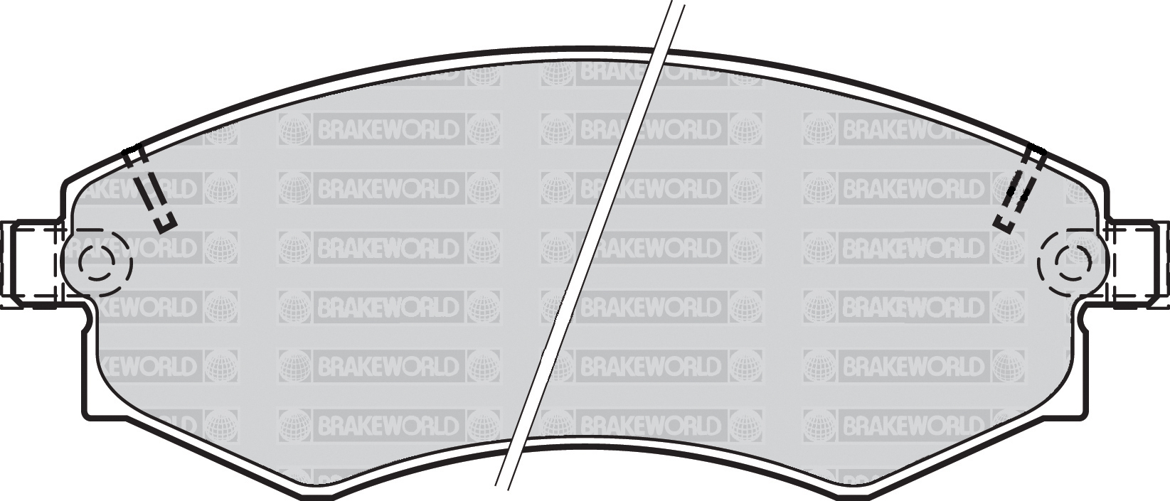 BLUEPRINT FRONT AND REAR PADS FOR DAEWOO MUSSO 2.9 TD 2000-03