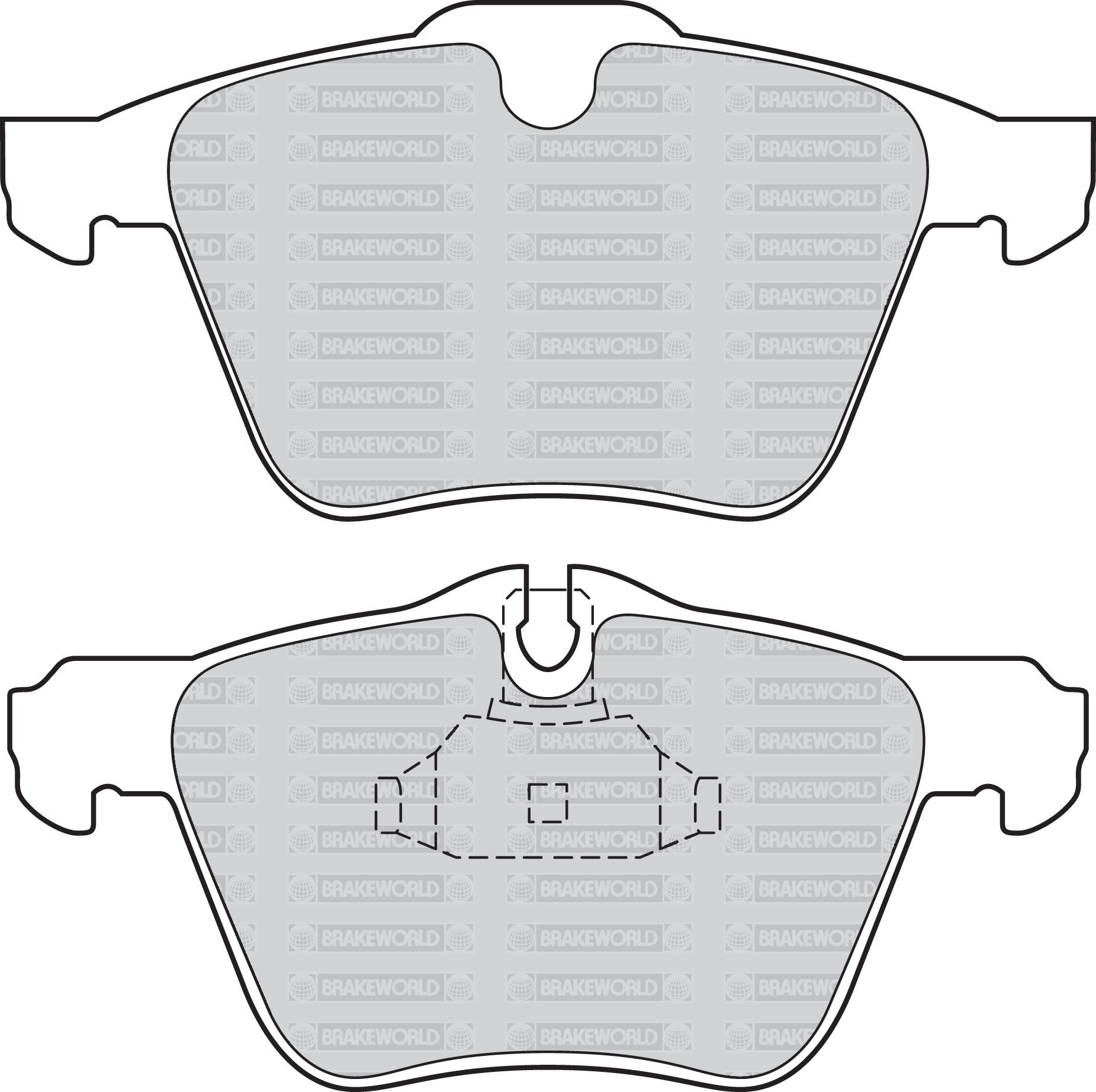 OEM Delantero Discos Almohadillas 282mm Para Citroen Berlingo Multispace 1.6 TD 90 HP 2008