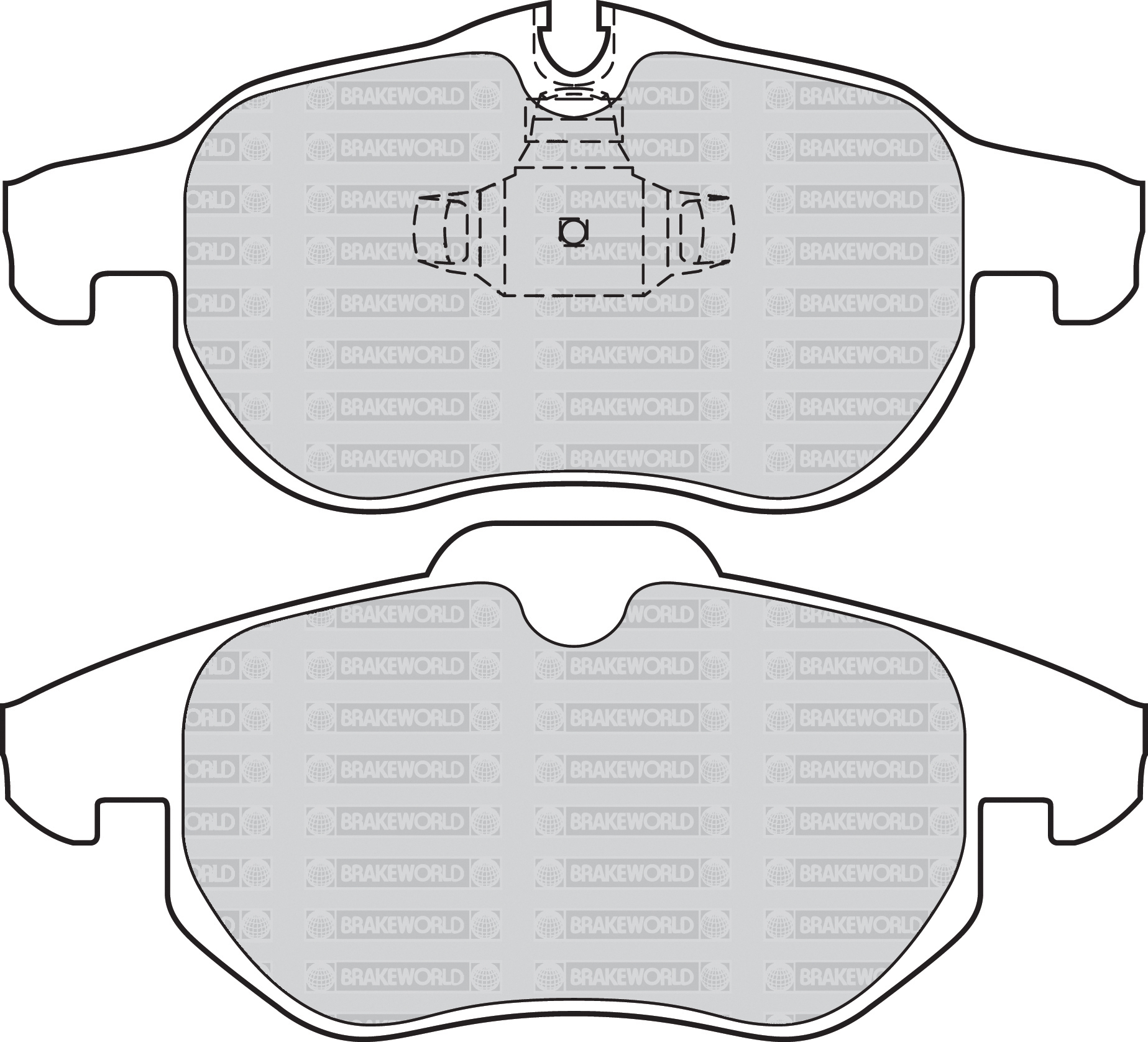 OEM SPEC FRONT AND REAR PADS FOR SAAB 9-3 1.9 TD 150 BHP 2004-11
