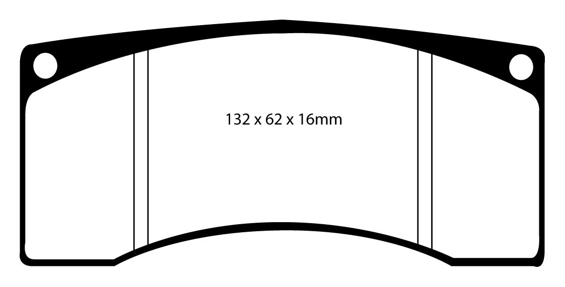 DP9003 NEW EBC ORANGESTUFF FRONT BRAKE PADS SET TRACK RACE PADS OE QUALITY